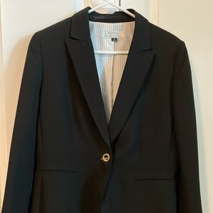 Black suit jacket by Tahari size 12 with gold trim
